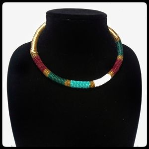 Unique Cleopatra Egyptian style collar necklace